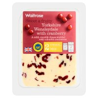 Waitrose Wensleydale with cranberries image