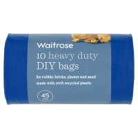 essential Waitrose heavy duty DIY bags, pack of 10