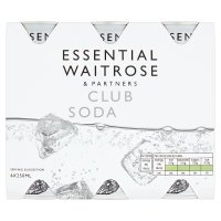 essential Waitrose club soda
