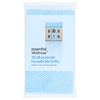 essential Waitrose all purpose cloths, pack of 25
