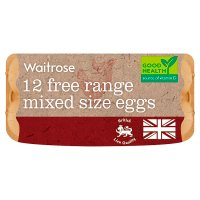 Waitrose British Blacktail medium free range eggs