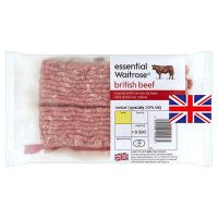 essential Waitrose British beef coarse cut mince