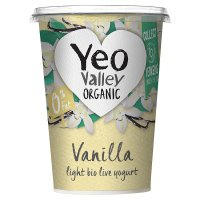 Yeo Valley organic fat free vanilla yogurt