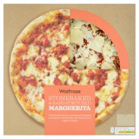 Waitrose hand stretched, thin & crispy margherita pizza