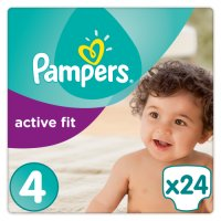 Pampers Active Fit Sz 4 Carry 24 Nappies