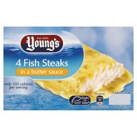 Youngs fish steaks in butter sauce