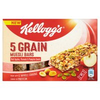 Kellogg's 5 Grain Muesli Bars Red Apples, Peanuts