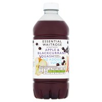 essential Waitrose apple & blackcurrant squash