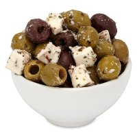 Green and Black Olives with Feta