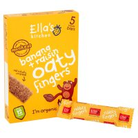 Ella's Kitchen Organic bananas and raisins nibbly fingers baby food