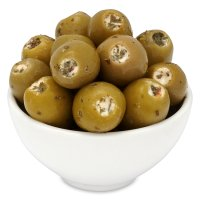 Waitrose feta stuffed olives with parsley