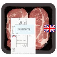 Waitrose British free range pork shoulder steaks