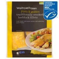 Waitrose MSC frozen line caught smoked haddock fillets