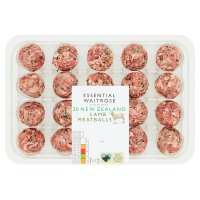 essential Waitrose New Zealand lamb meatballs