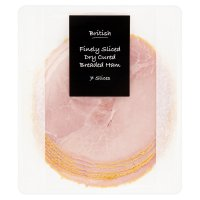British finely sliced dry cured breaded ham