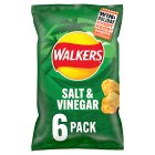 Walkers salt & vinegar multipack crisps - 6x25g