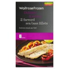 Waitrose Frozen 2 farmed sea bass fillets - 210g