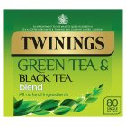 Twinings green and black tea blend 80 tea bags - 250g Brand Price Match - Checked Tesco.com 01/07/2015