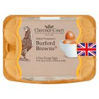 Clarence Court Burford Brown mixed weight British free range eggs - 6s