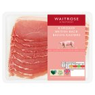 Waitrose smoked British back bacon, 8 rashers - 250g