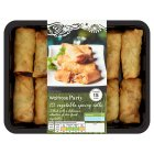 Waitrose 12 mini vegetable spring rolls - 300g