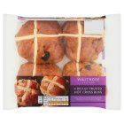 Waitrose richly fruited hot cross buns - 4s