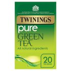Twinings pure green 20 tea bags - 50g Brand Price Match - Checked Tesco.com 01/07/2015