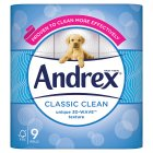 Andrex Classic White Toilet Rolls - 9s
