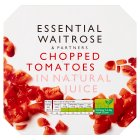 essential Waitrose tinned chopped tomatoes in natural juice, 4 pack - 4x400g