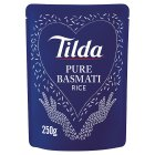 Tilda steamed pure basmati rice - 250g