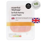 essential Waitrose British honey roast ham, 8 slices - 100g