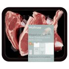 Waitrose 8 hand cut New Zealand lamb rack cutlets -