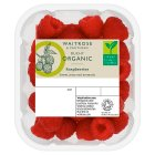Waitrose Organic raspberries - 100g