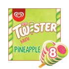 Twister Mini pineapple, strawberry & lemon 8 pack ice cream lolly - 8x50ml