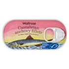Waitrose MSC anchovy fillets in extra virgin olive oil - drained 30g