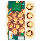 Waitrose Party 12 brie & cranberry filo tartlets - 205g
