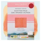 Waitrose Scottish oak smoked salmon minimum, 4 slices - 100g