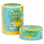 John West No Drain tuna steak with sunflower oil, 3 pack - 3x120g Brand Price Match - Checked Tesco.com 24/11/2014