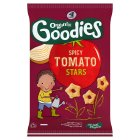 Organix goodies organic spicy tomato stars - 4x15g Brand Price Match - Checked Tesco.com 24/11/2014