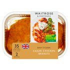 Waitrose Easy To Cook cajun chicken breasts - 270g