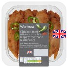 Waitrose British chicken mini fillets with hot marinade - 300g
