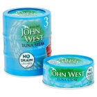 John West No Drain tuna steak with brine, 3 pack - 3x120g Brand Price Match - Checked Tesco.com 24/11/2014