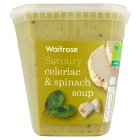 Waitrose LoveLife Calorie Controlled celeriac, spinach, creme fraiche & herb soup - 600g