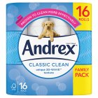Andrex Classic White Toilet Rolls - 16s