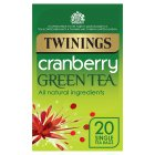 Twinings green tea with cranberry 20 tea bags - 40g Brand Price Match - Checked Tesco.com 01/07/2015