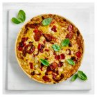 Roasted red pepper & goats cheese quiche - 1.5kg