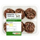 essential Waitrose 6 New Zealand lamb burgers - 450g