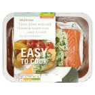 Waitrose Easy to Cook 2 Scottish loch trout fillets with soft cheese & watercress - 250g