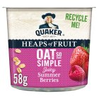 Quaker Oats So Simple Heaps of Fruit berries porridge cereal pot - 58g Brand Price Match - Checked Tesco.com 16/04/2015