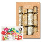 Waitrose Christmas Gold Crackers - 12s